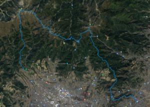 大倉-塔ノ岳-ヤビツ峠-大山-鶴巻温泉
