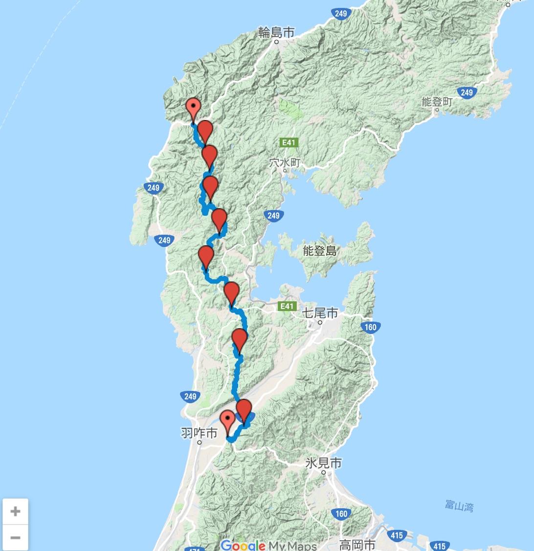 峨山道(がさんどう)トレイルのコース