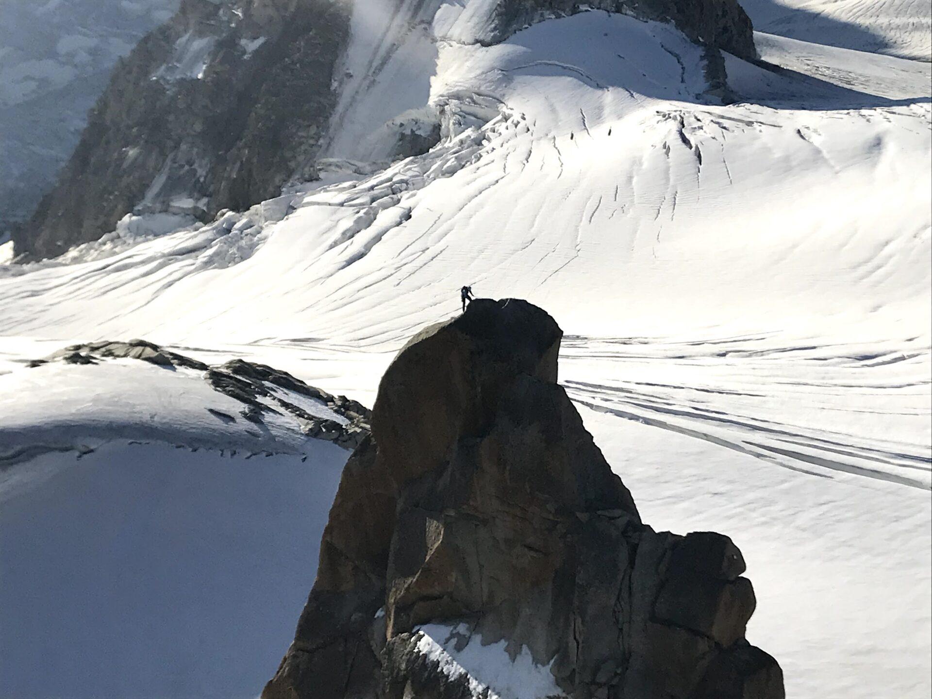 標高3842mのエギーユ・デュ・ミディ
